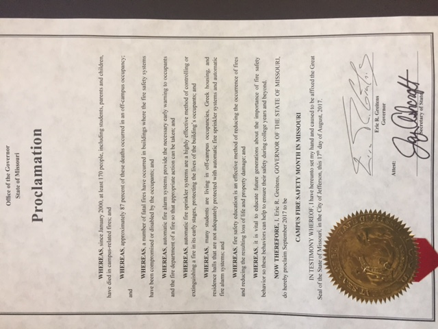 cus safety month proclamations cus firewatch